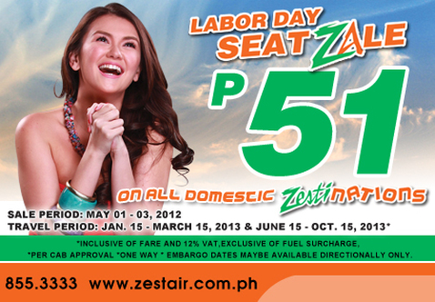 onenetworx zestair labor day seat sale